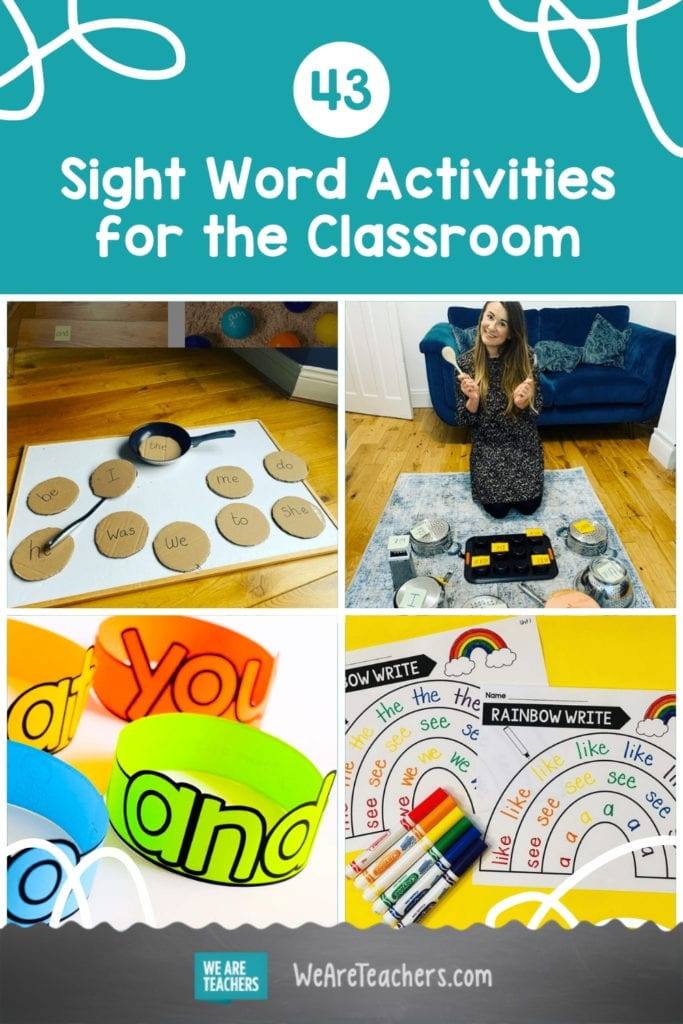 43 Creative and Simple Sight Word Activities for the Classroom