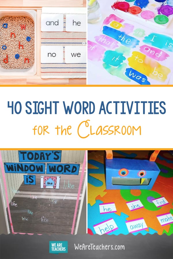 40 Creative and Simple Sight Word Activities for the Classroom