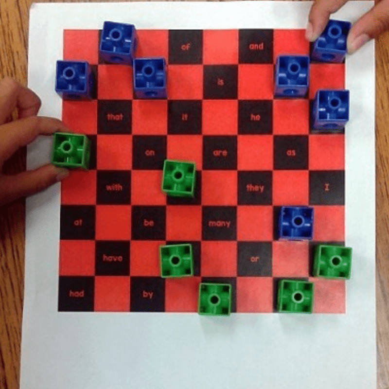 Sight words checkers