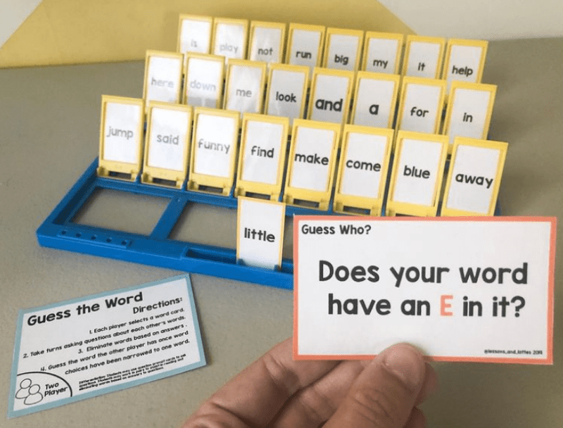 Sight words guess who