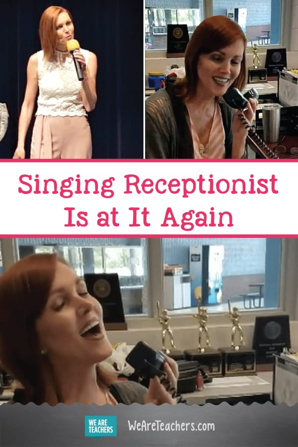Singing Receptionist Is at It Again With a Back-to-School Song That Will Leave You Humming
