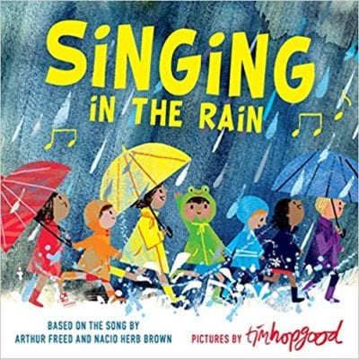 Book Cover for Singing in the Rain example of Spring Books for Kids