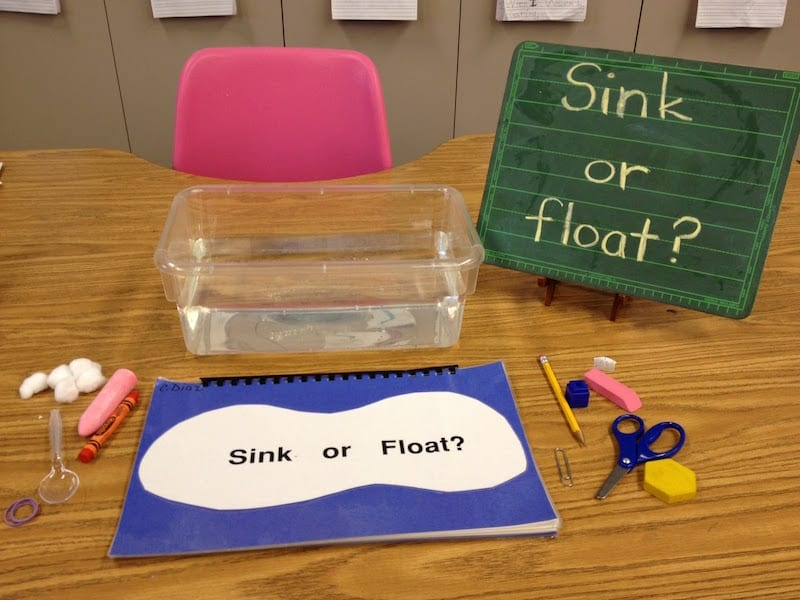 kindergarten science activities float sink floating sinking preschool experiment experiments water physical kinder classroom center activity fair centers eyfs lessons