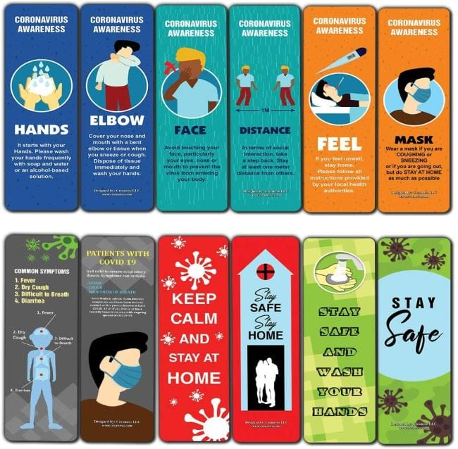 Social Distancing Classroom Decor Bookmarks