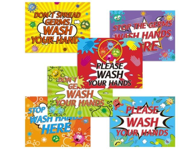 Social Distancing Classroom Decor Handwashing Decals