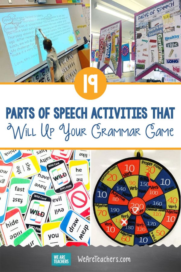 19 Parts of Speech Activities That Will Up Your Grammar Game