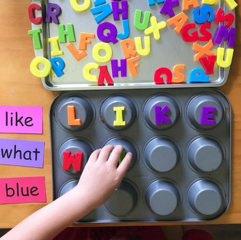 Spell Words With Magnetic Letters