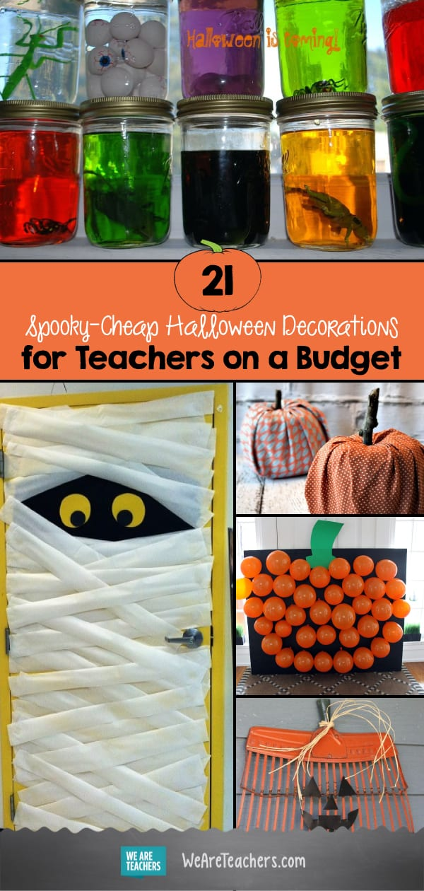 Spooky Cheap Halloween Decorations For Teachers On A Budget