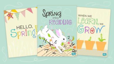 Free Spring Posters for the Classroom