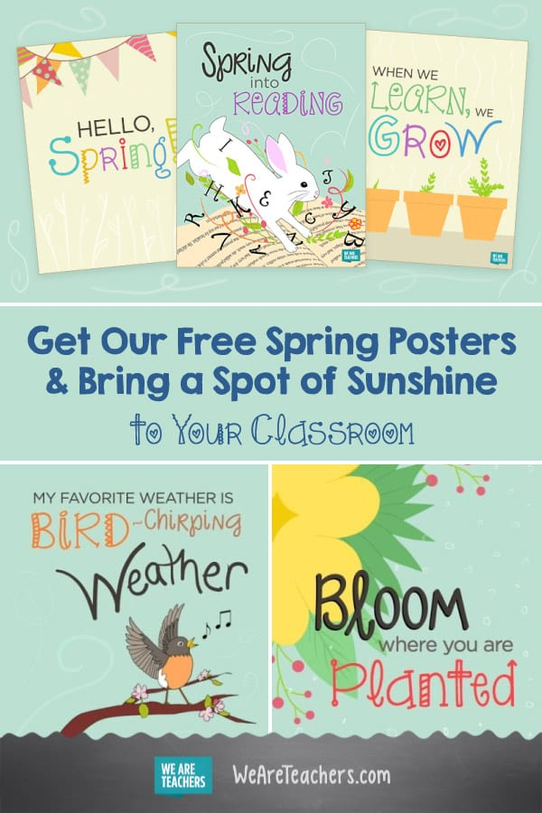 Get Our Free Spring Posters & Bring a Spot of Sunshine to Your Classroom