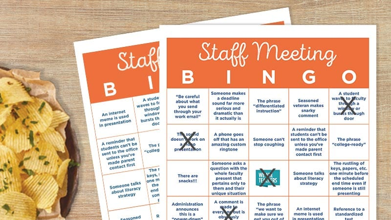 picture about Musical Bingo Cards Printable titled University Convention Bingo Card - Cost-free Printable - WeAreTeachers