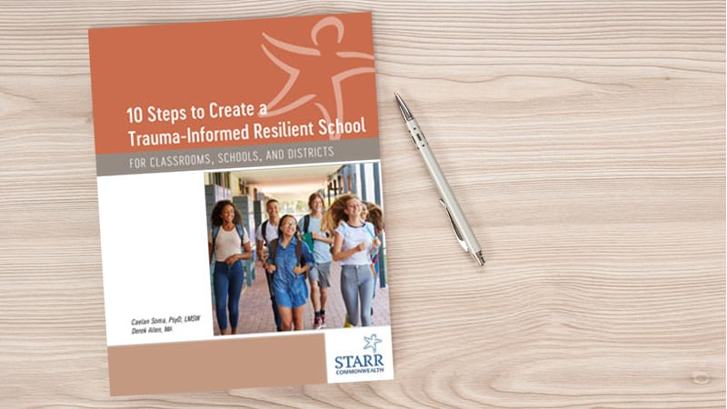 Book cover: 10 Steps to Create a Trauma-Informed Resilient School