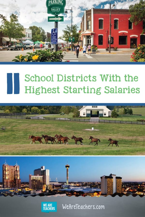 11 School Districts With the Highest Starting Salaries
