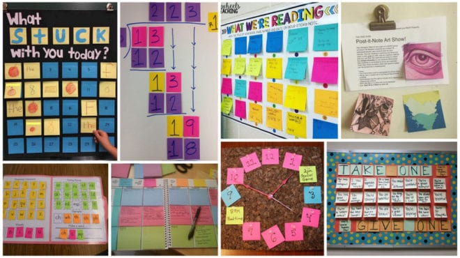 25 Ways to Use Sticky Notes in the Classroom - WeAreTeachers