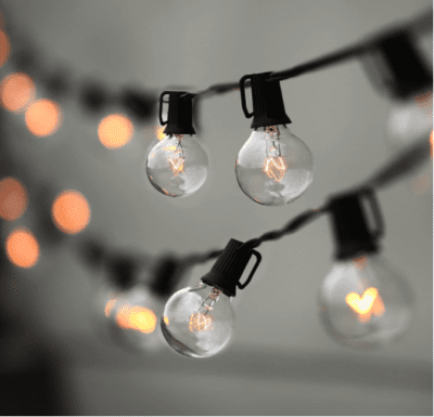 String lights for middle school math