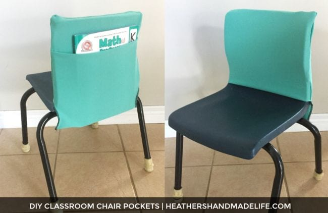 Fabric pockets on plastic classroom chairs student mailbox ideas
