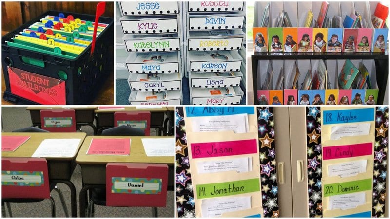 Collage of student mailboxes on a budget.