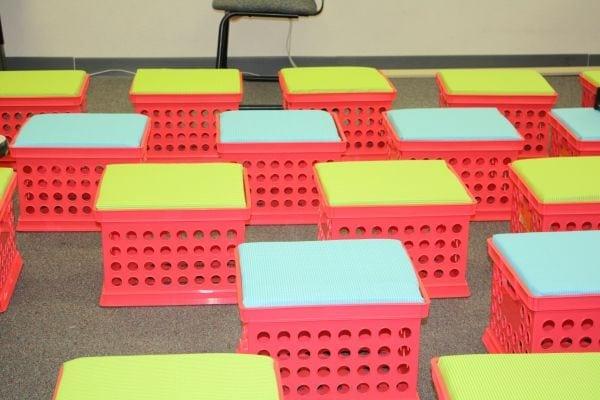 Student Storage Seat Crates