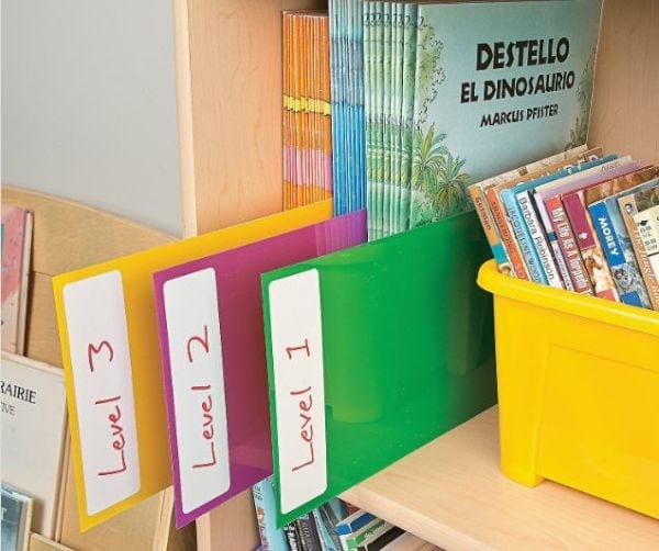 Student Storage Shelf Markers