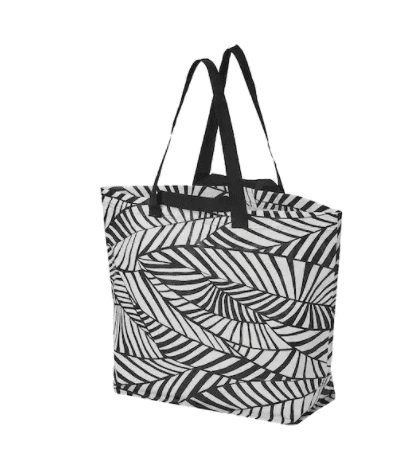 Tote bag in black and white pattern