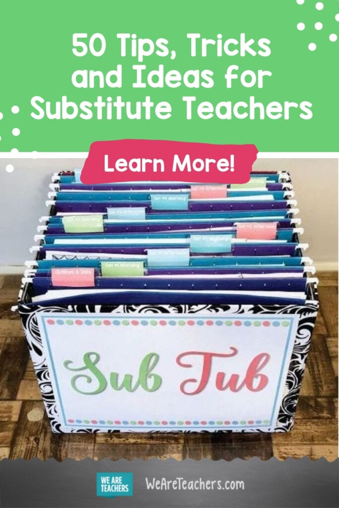 50 Tips, Tricks and Ideas for Substitute Teachers