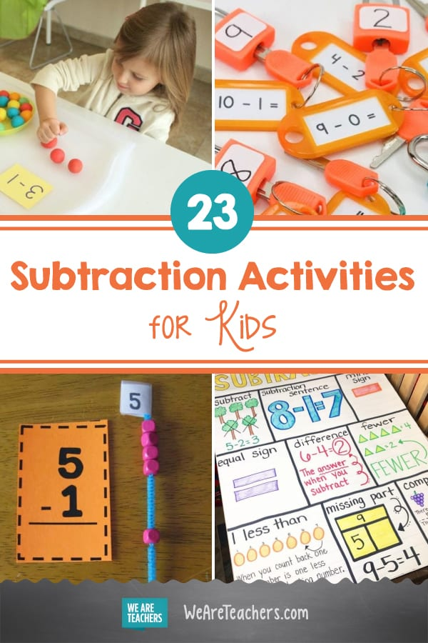 23 Subtraction Activities That Are Nothing Less Than Awesome