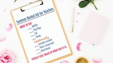 The Fabulous Big Summer Bucket List for Teachers