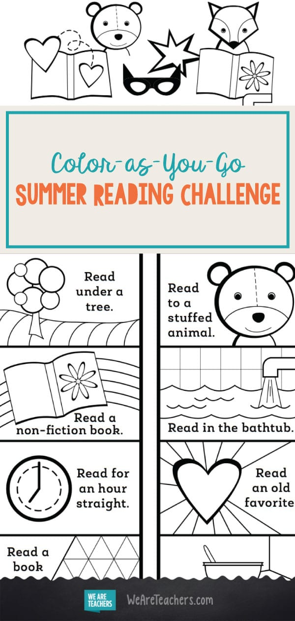 Color-as-You-Go Summer Reading Challenge