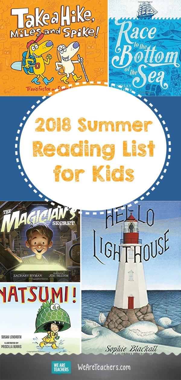 2018 Summer Reading List for Kids, as Chosen by Teachers