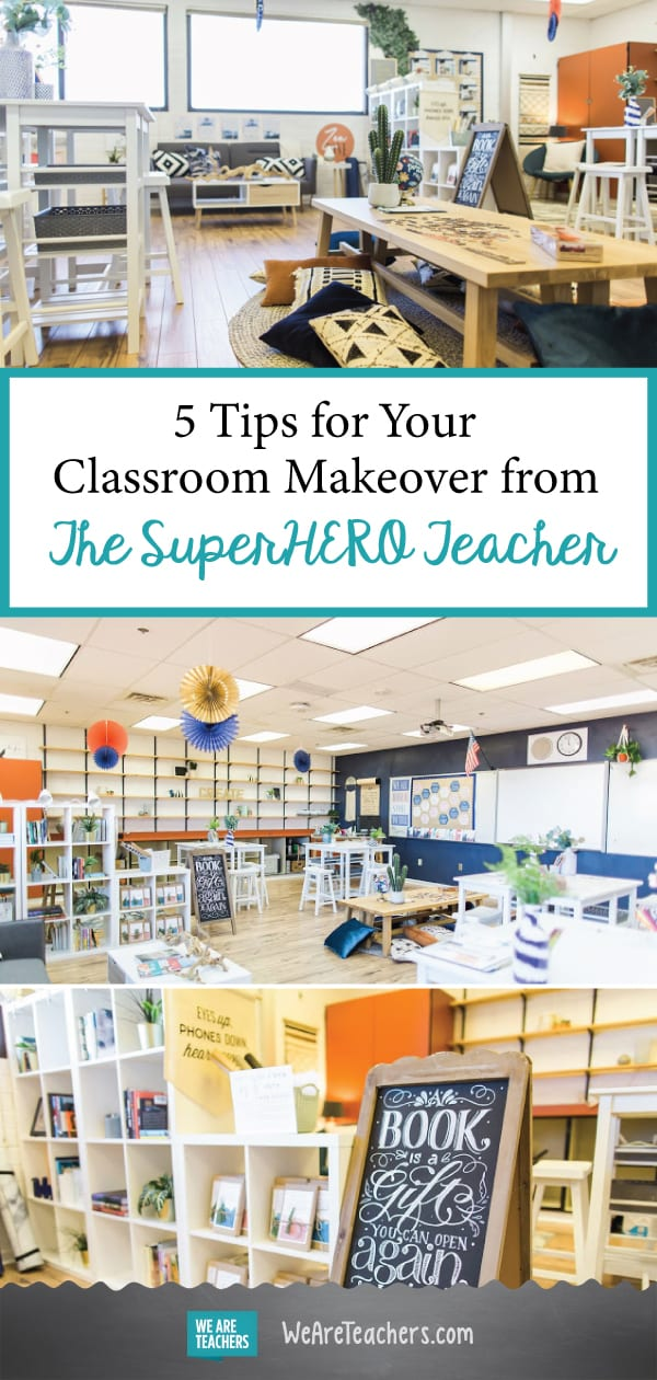 5 Tips for Your Classroom Makeover from The SuperHERO Teacher