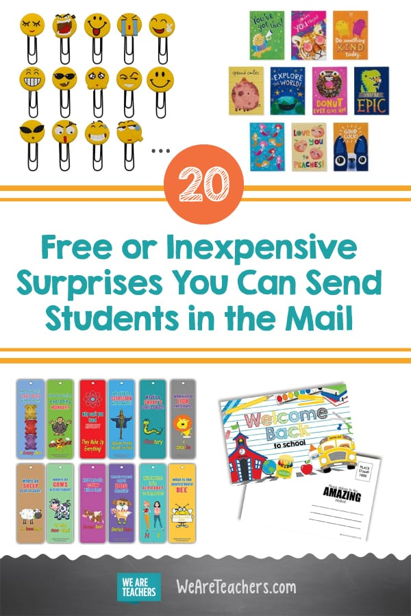 20 Free or Inexpensive Surprises You Can Send Students in the Mail