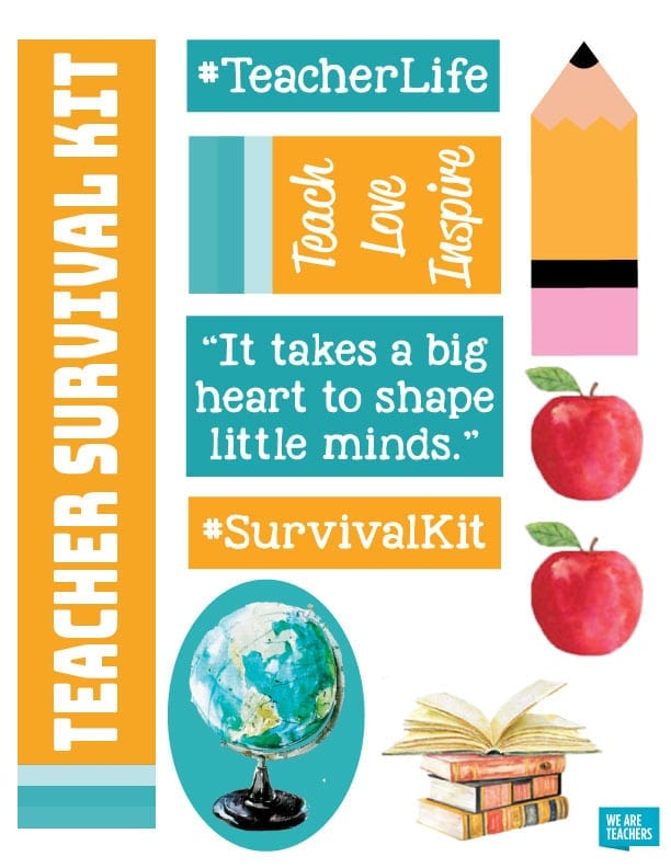 image regarding Teacher Survival Kit Printable identified as Heres Nearly anything That Must Move within just Your Instructor Survival Package