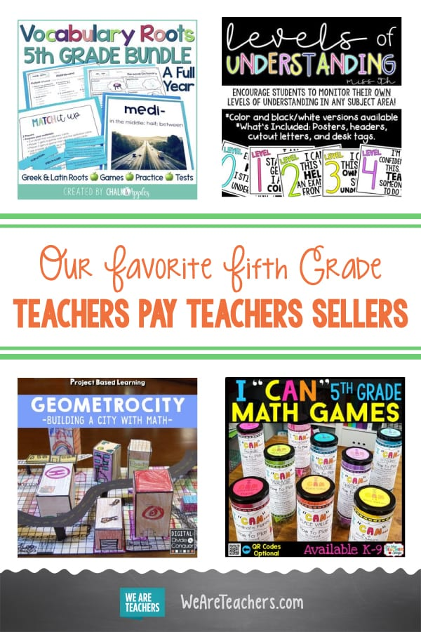 Our Favorite Fifth Grade Teachers Pay Teachers Sellers