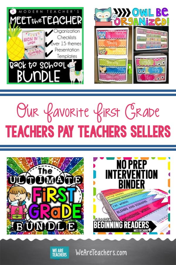 Our Favorite First Grade Teachers Pay Teachers Sellers