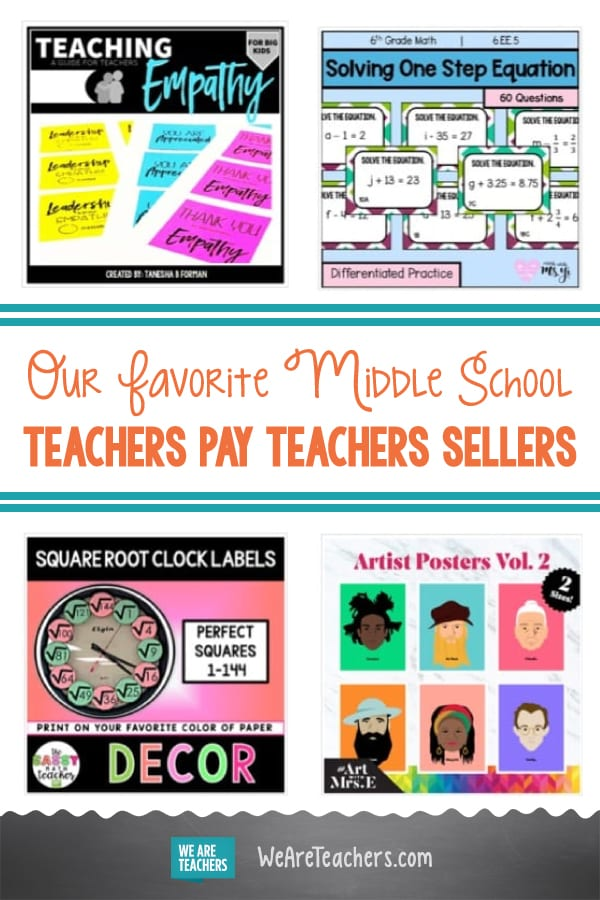 Our Favorite Middle School Teachers Pay Teachers Sellers