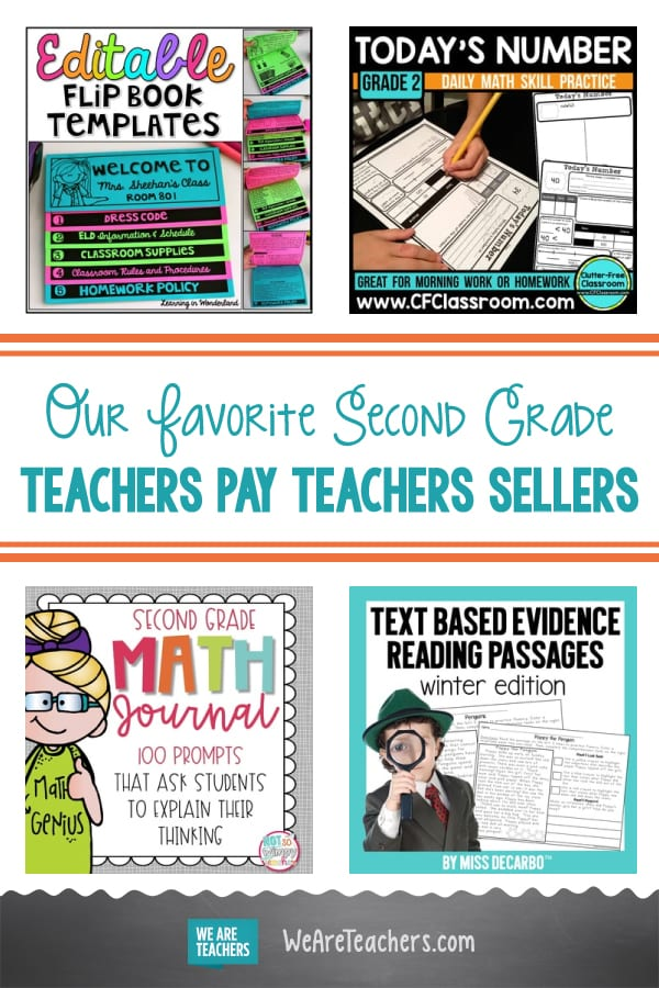 Our Favorite Second Grade Teachers Pay Teachers Sellers
