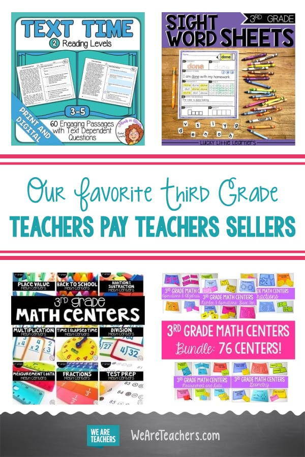 Our Favorite Third Grade Teachers Pay Teachers Sellers