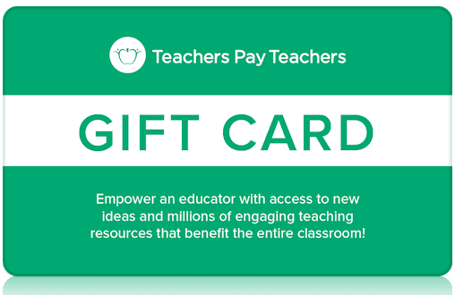 gift card for teachers