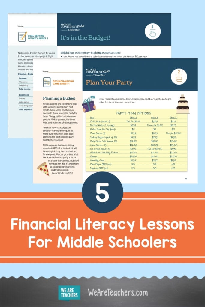 5 Financial Literacy Lessons For Middle Schoolers To Help Them Become Money Confident Kids