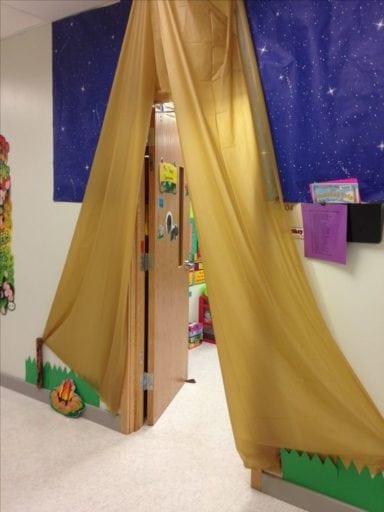 Plastic Tablecloth tent door decoration