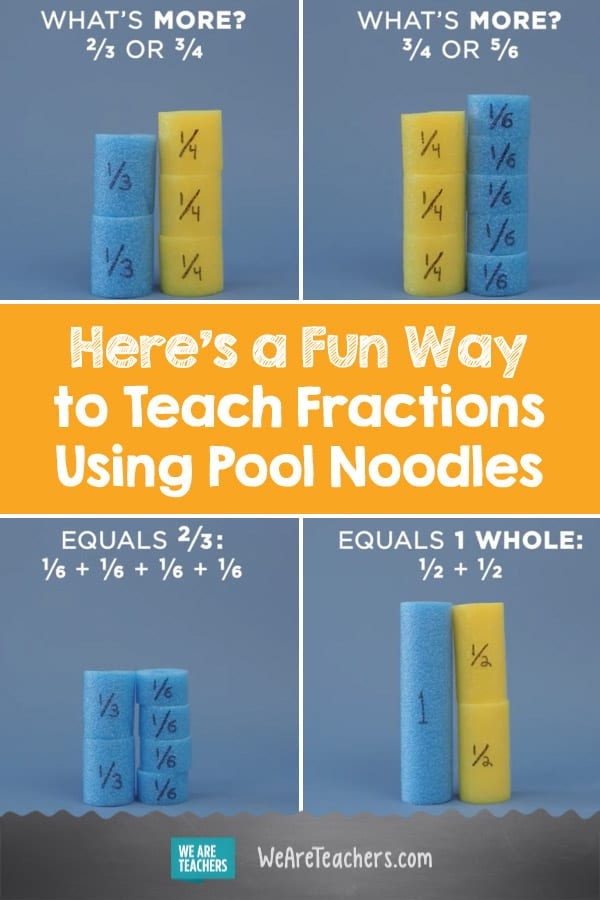 Here's a Fun Way to Teach Fractions Using Pool Noodles