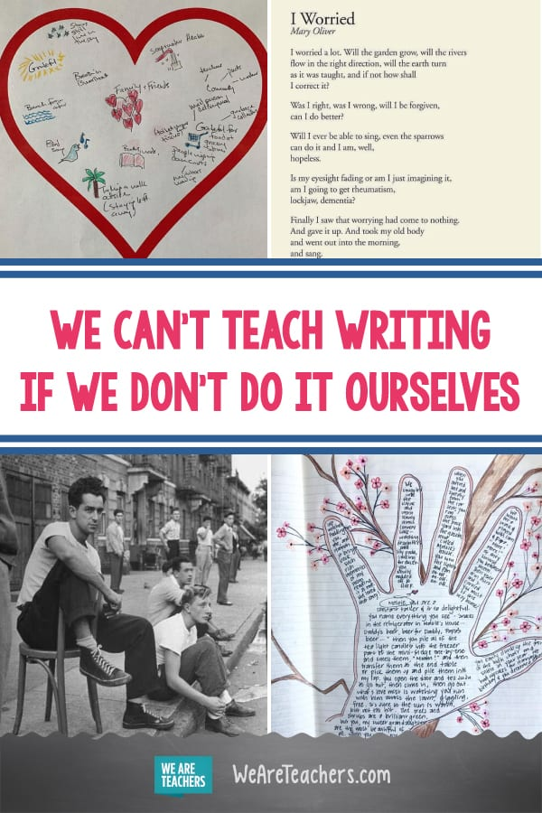We Can't Teach Writing if We Don't Do It Ourselves