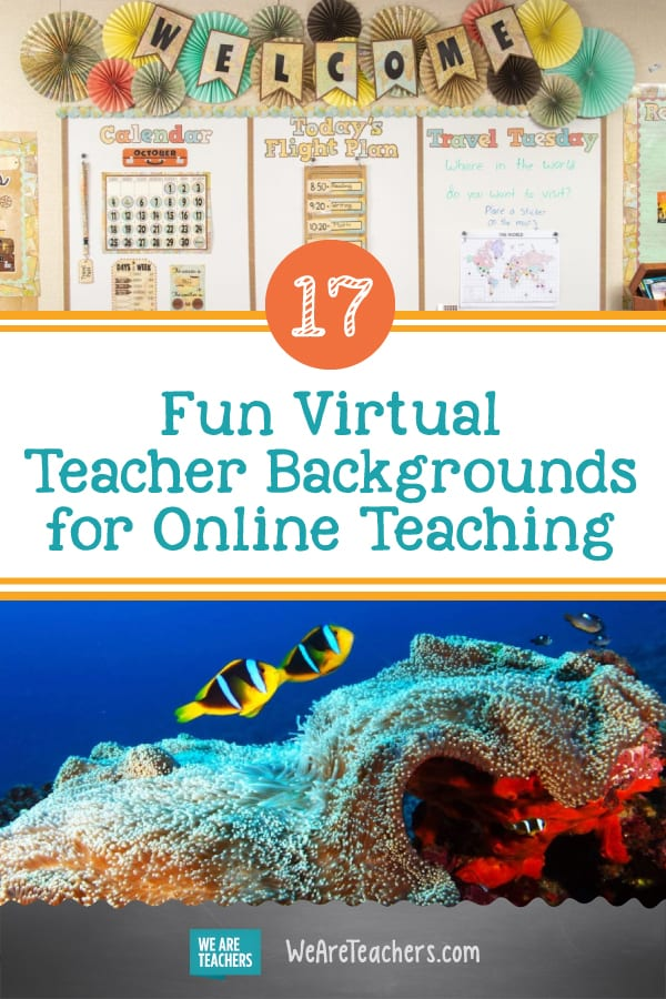 17 Fun Virtual Teacher Backgrounds for Online Teaching