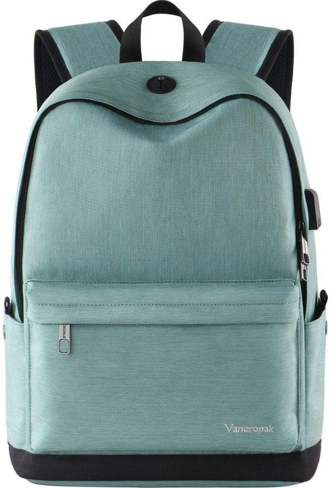 Light blue basic backpack