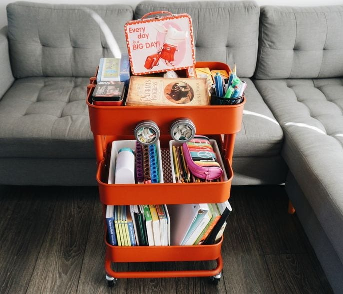 Teacher Cart Intentional Homeschooling