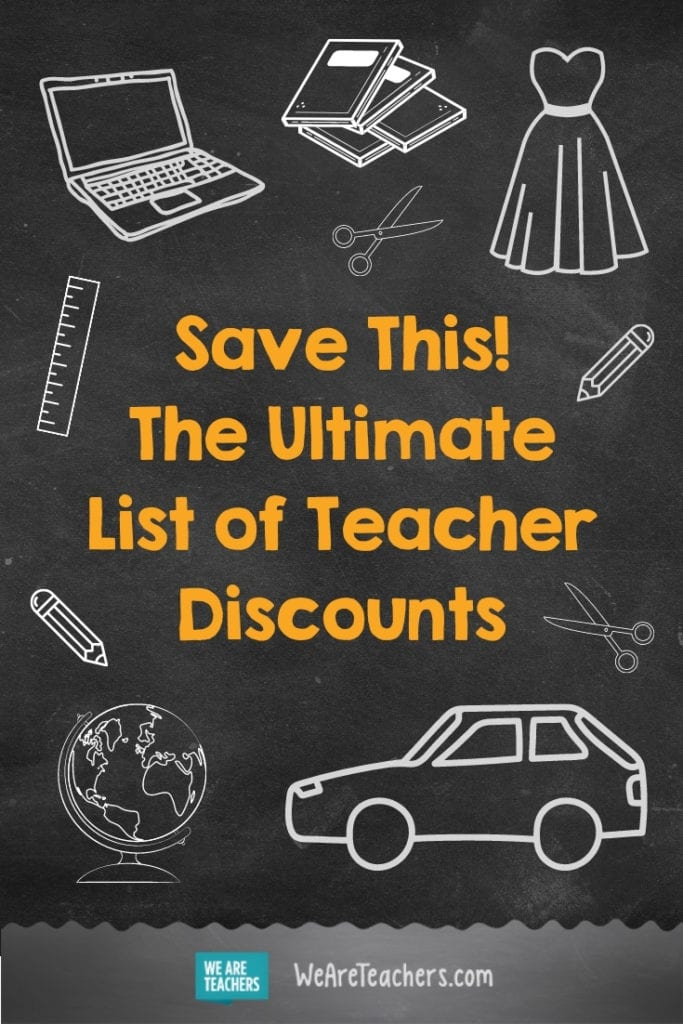 Save This! The Ultimate List of Teacher Discounts