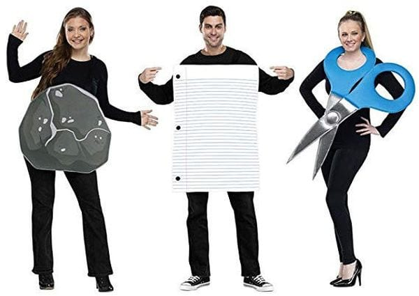 Teacher Halloween Costumes Rock Paper Scissors