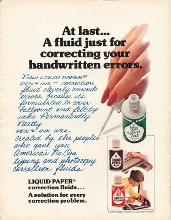 Teacher Nostalgia Correction Fluid