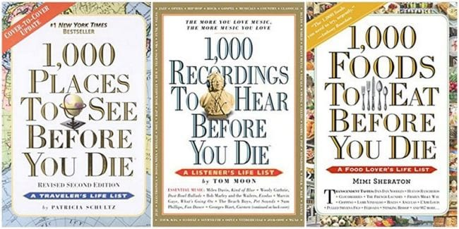 1.000 Places to See, Recordings to Hear, Foods to Eat Before You Die