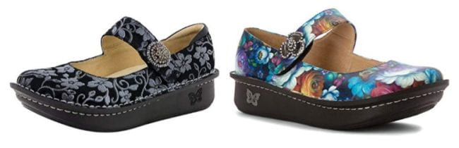Alegria Paloma shoes in floral patterns